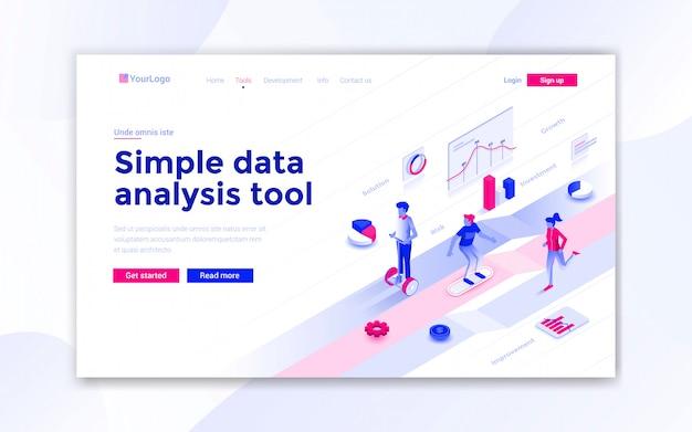 Página de destino da ferramenta de análise de dados simples