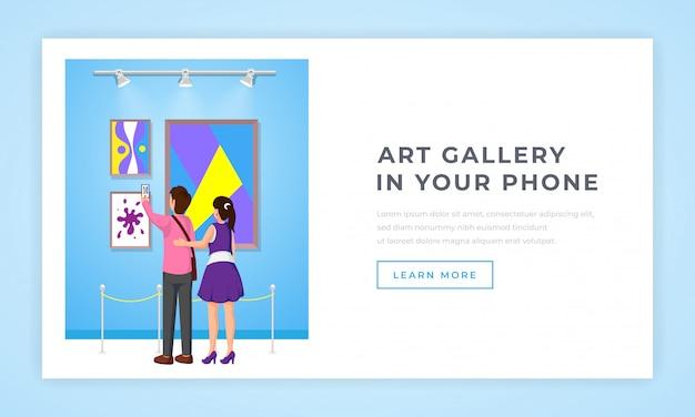 Página de destino da galeria de arte