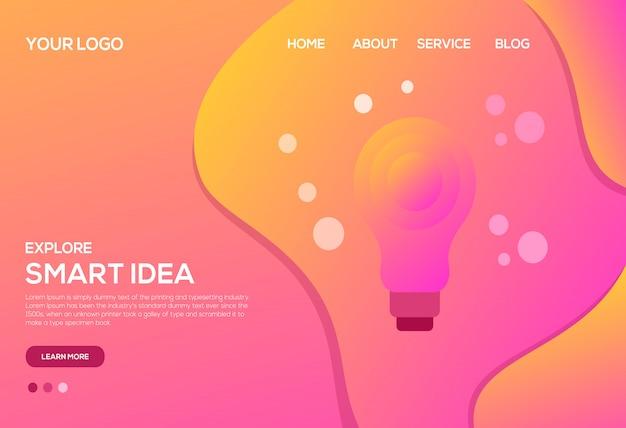 Página de destino da ideia inteligente
