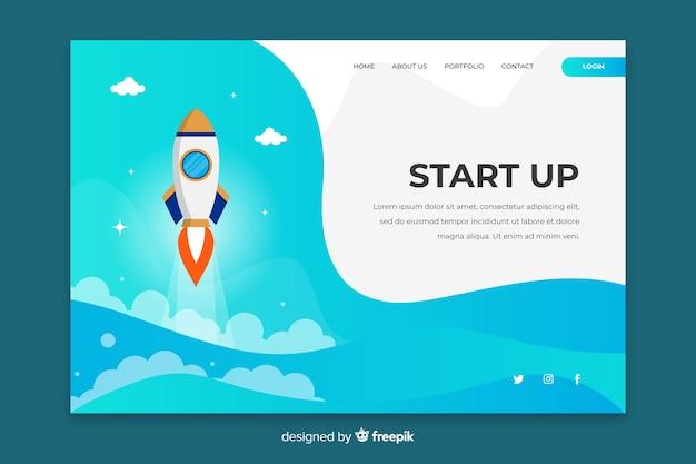 Página de destino da inicialização do negócio