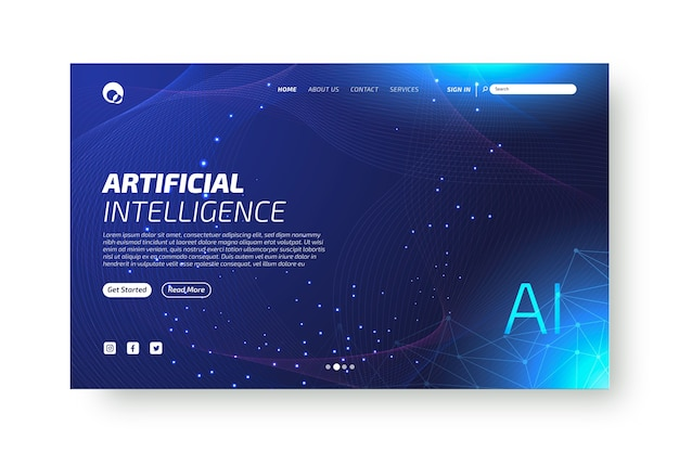 Página de destino da inteligência artificial