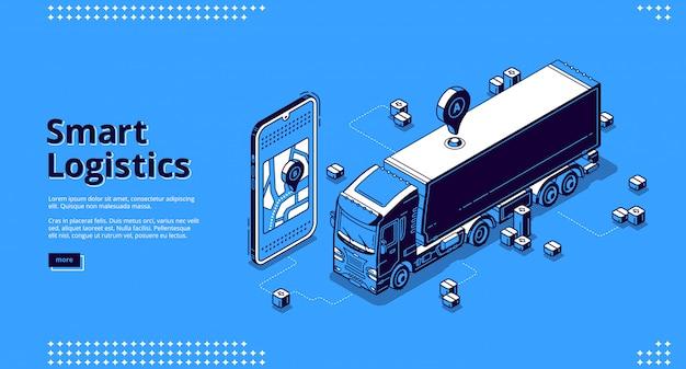 Página de destino da logística inteligente