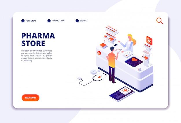 Página de destino da loja de farmácias