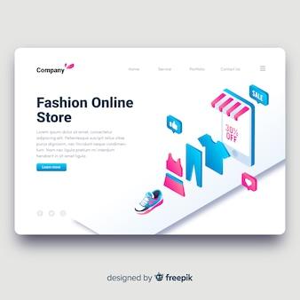 Página de destino da loja de moda