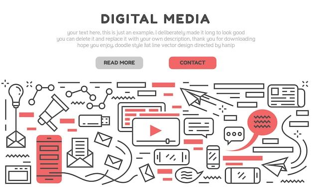 Página de destino da mídia digital