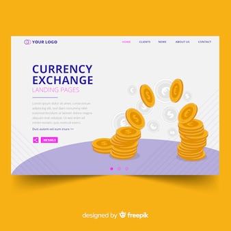 Página de destino da moeda
