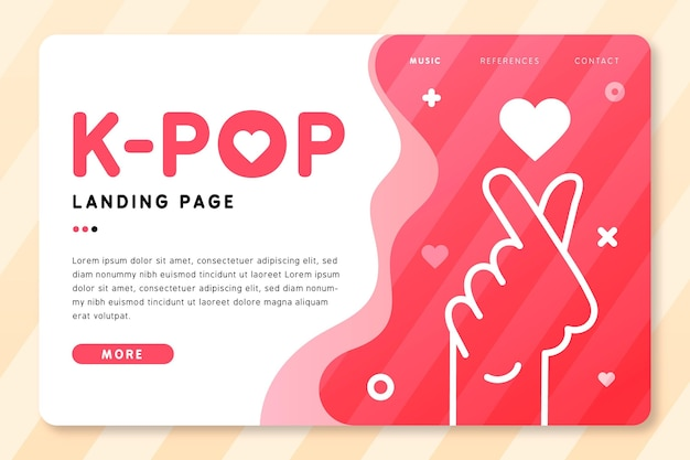 Página de destino da música k-pop