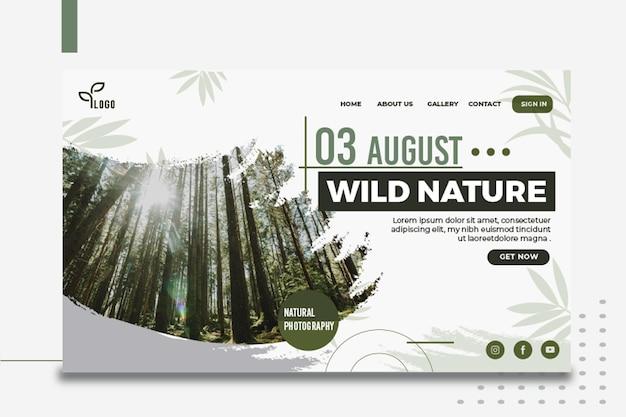 Página de destino da natureza selvagem