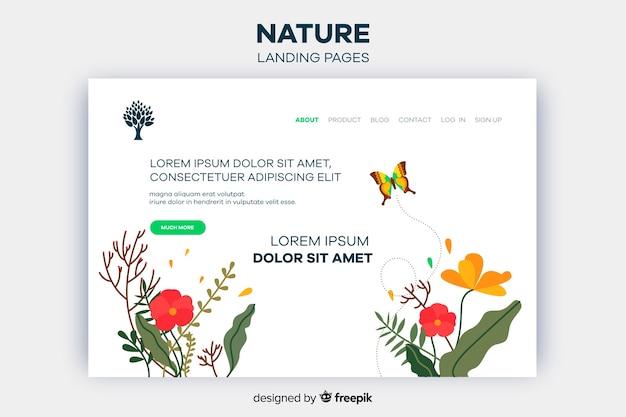 Página de destino da natureza