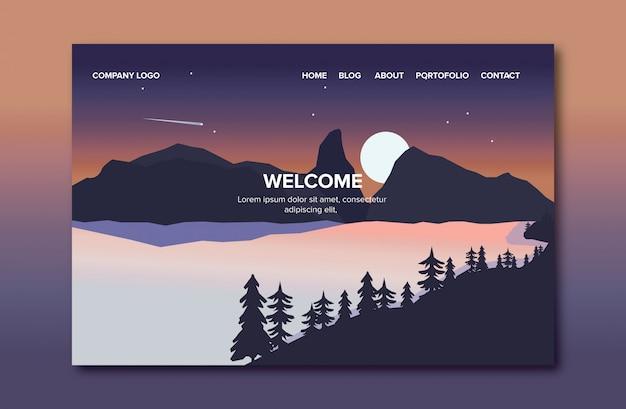 Página de destino da paisagem