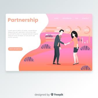 Página de destino da parceria