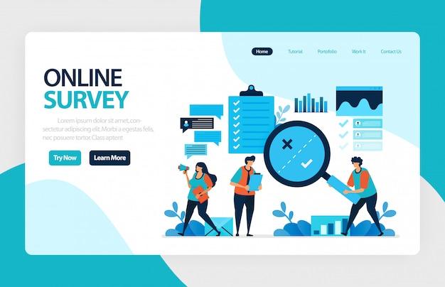 Página de destino da pesquisa on-line