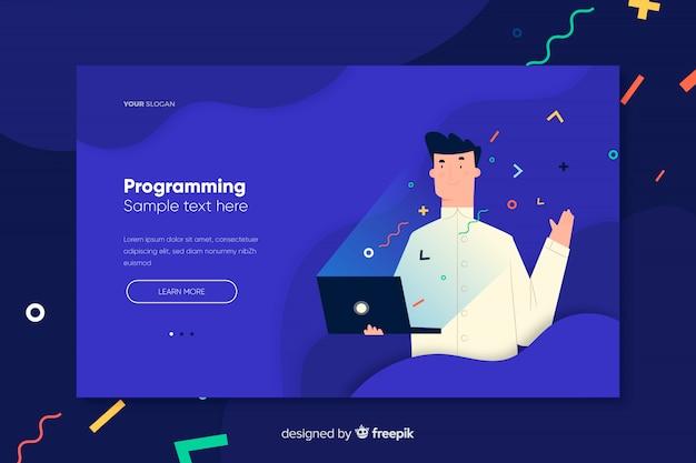 Página de destino da programação