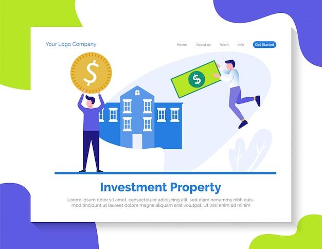 Página de destino da propriedade de investimento