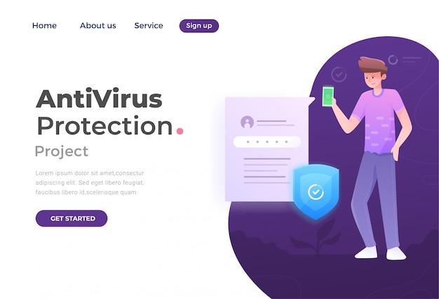 Página de destino da proteção antivírus