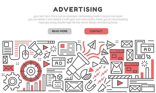 Página de destino da publicidade