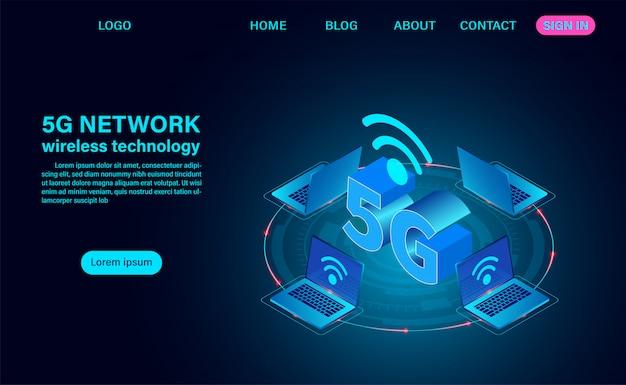 Página de destino da rede 5g