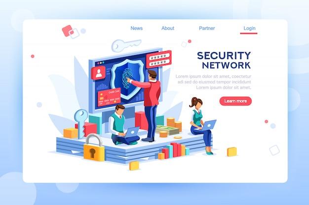 Página de destino da rede de segurança