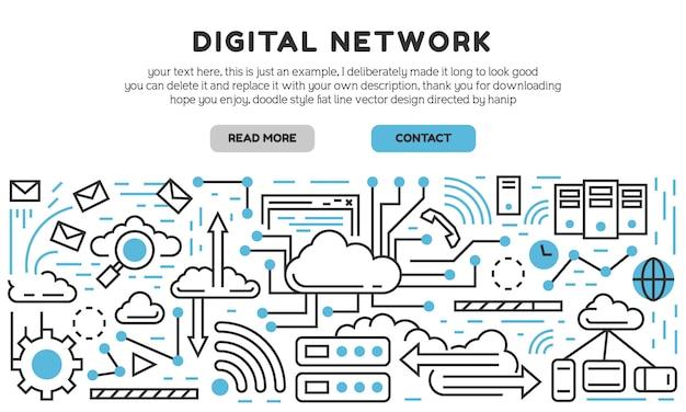 Página de destino da rede digital