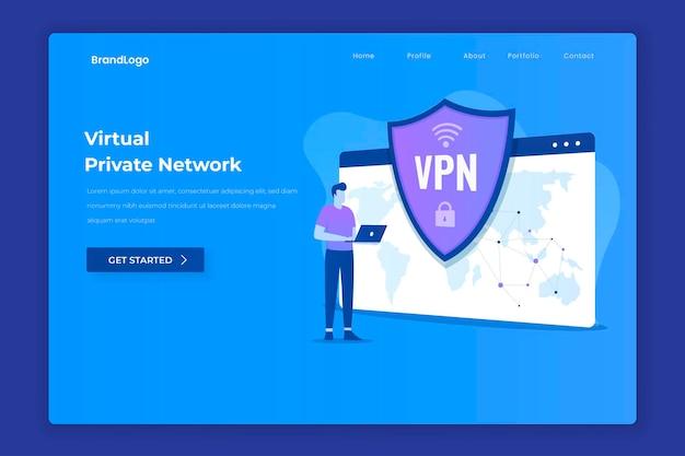 Página de destino da rede privada virtual