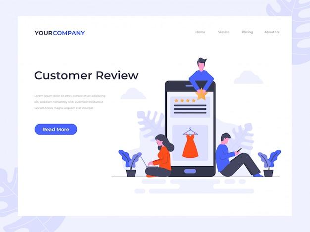 Página de destino da revisão do cliente