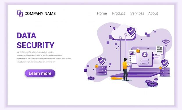 Página de destino da segurança de dados