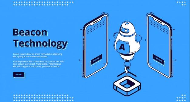 Página de destino da tecnologia beacon