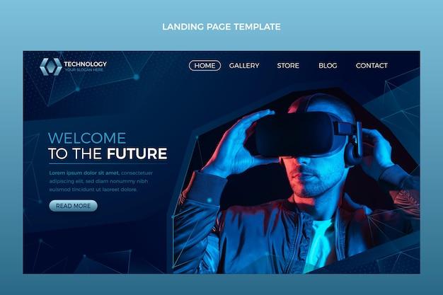 Página de destino da tecnologia gradient abstract