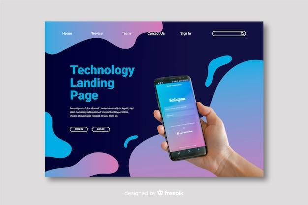 Página de destino da tecnologia móvel
