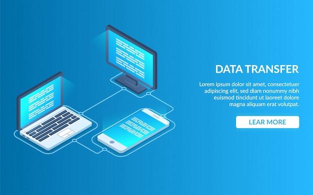 Página de destino da transferência de dados