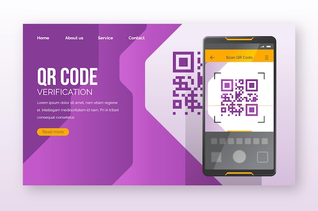Página de destino da verificação de código qr