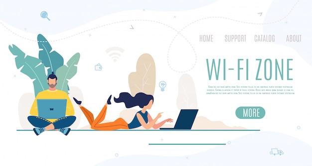 Página de destino da zona wi-fi