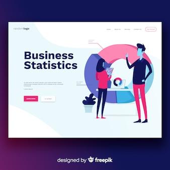 Página de destino das estatísticas de negócios