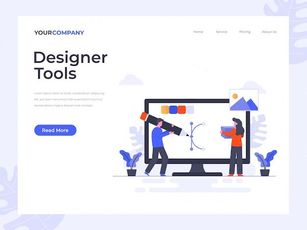 Página de destino das ferramentas de designer