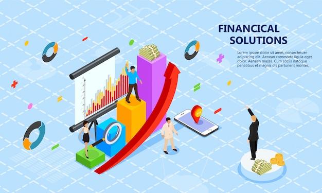 Página de destino das soluções financeiras