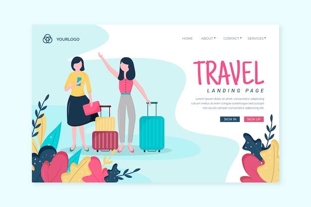Página de destino das viagens de modelo