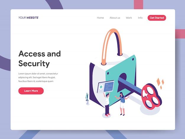 Página de destino de acesso e segurança