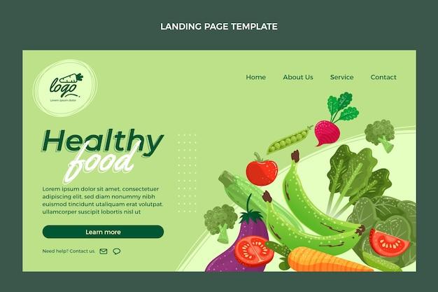 Página de destino de alimentos planos orgânicos