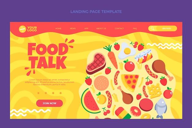 Página de destino de alimentos planos