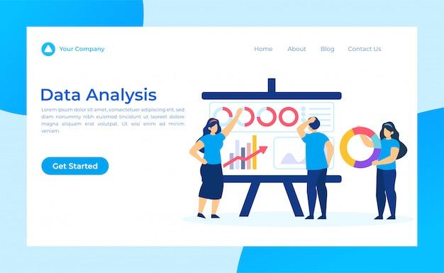 Página de destino de análise de dados