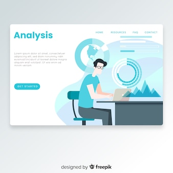 Página de destino de análise de negócios