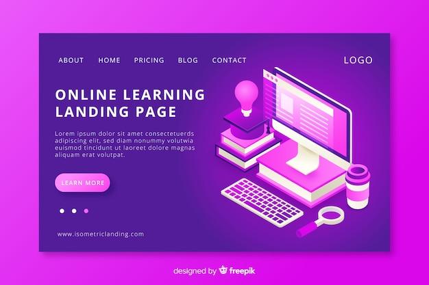 Página de destino de aprendizado on-line