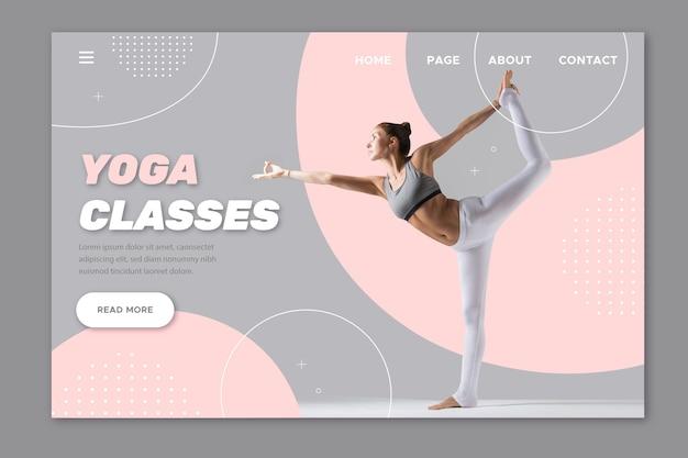 Página de destino de aulas de ioga