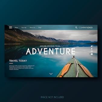 Página de destino de aventura moderna