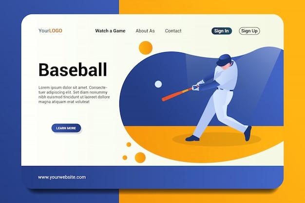 Página de destino de beisebol