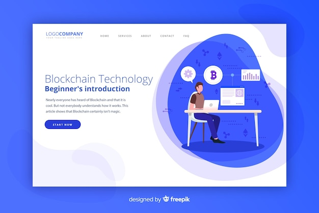 Página de destino de blockchain