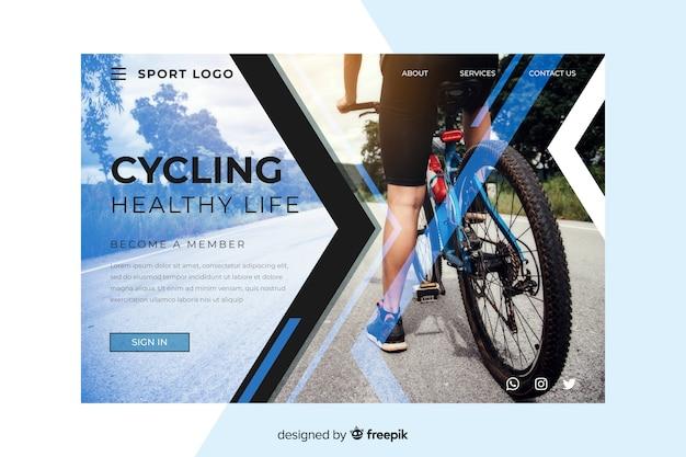 Página de destino de ciclismo esportivo