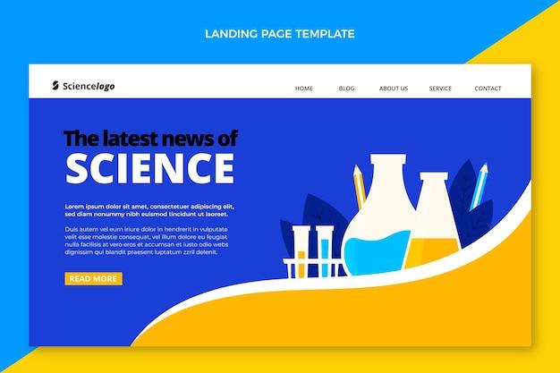 Página de destino de ciência plana