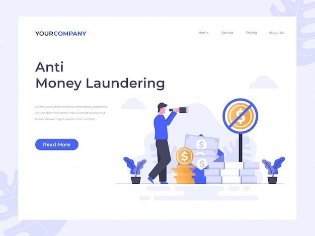 Página de destino de combate à lavagem de dinheiro
