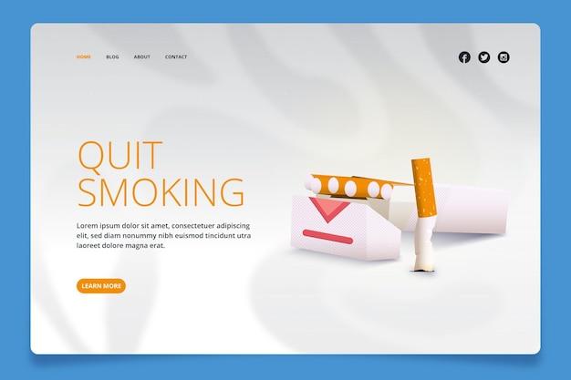 Página de destino de como parar de fumar